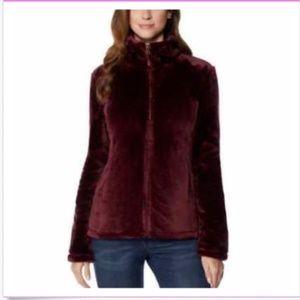 32 Degrees Heat Women Plush Faux Fur Full Zip Mock